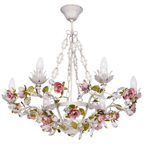 Chandelier Provence Flora 6 White - 421013506