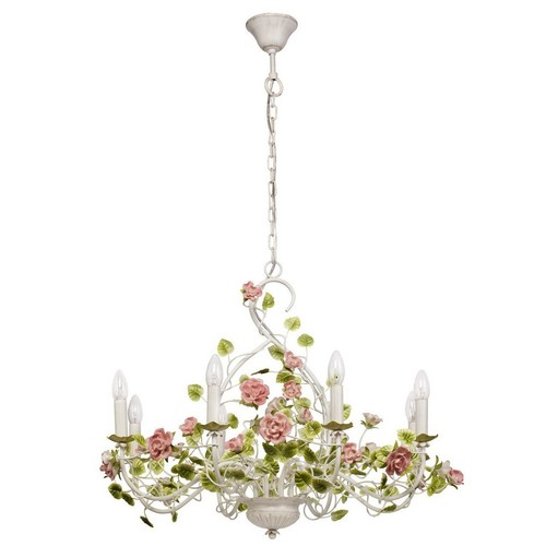 Chandelier Provence Flora 8 White - 421013708