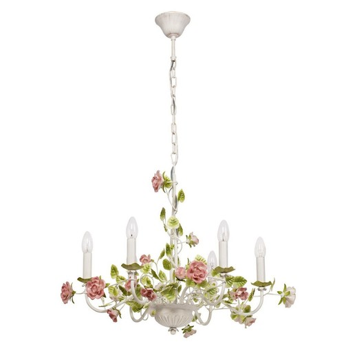 Chandelier Provence Flora 6 White - 421013806