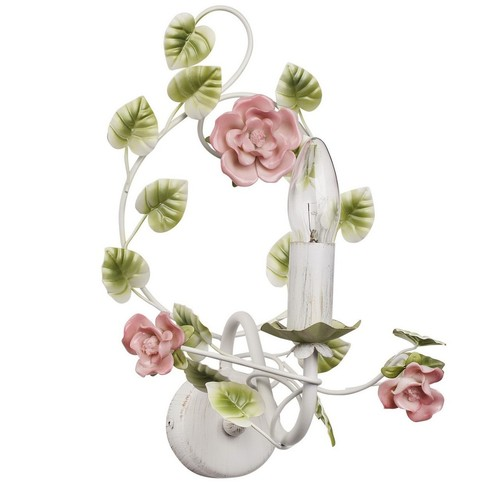 Wall lamp Provence Flora 1 White - 421023901