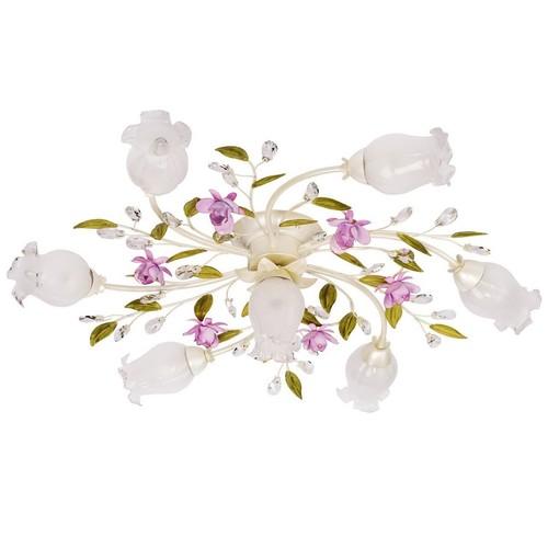 Hanging lamp Provence Flora 7 White - 422010607