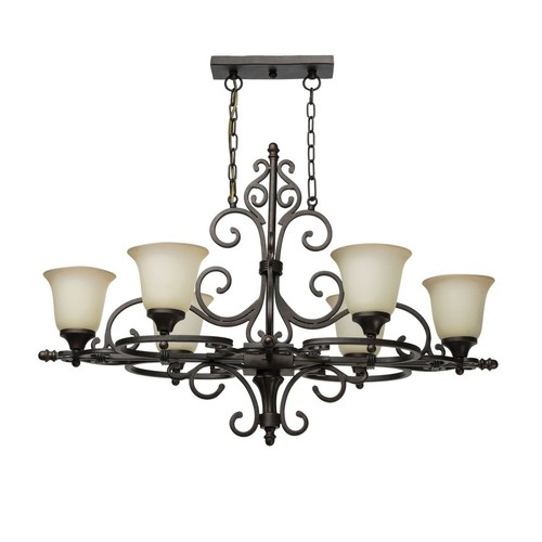 Chandelier Bologna Country 6 Black - 254015806