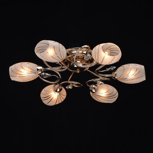 Hanging lamp Sabrina Megapolis 6 Gold - 267012106