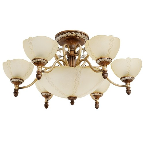 Hanging lamp Bologna Country 9 Brown - 254012909