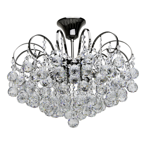 Pearl Crystal 6 hanging lamp Gray - 232016306