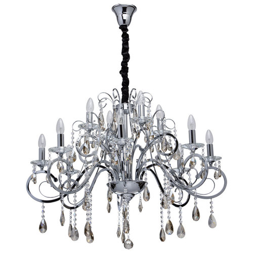 Chandelier Suzanne Crystal 12 Chrome - 458011012