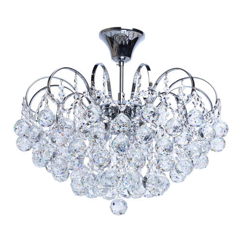 Pearl Crystal 6 Chandelier Chrome - 232017506