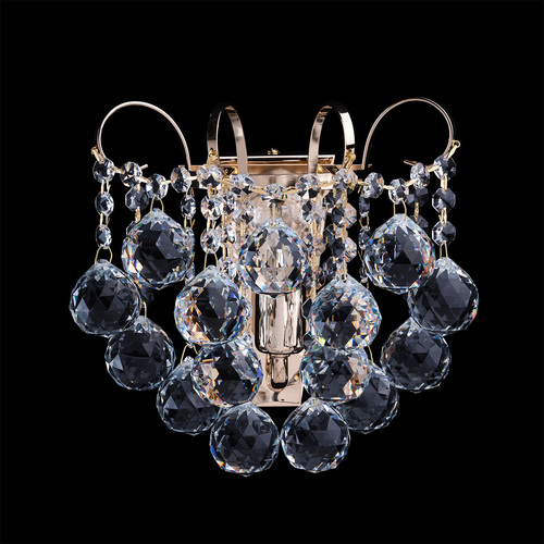 Sconce Pearl Crystal 1 Gold - 232028101