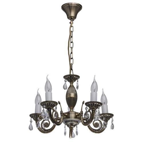 Lampa wisząca Aurora Classic 5 Mosiądz - 371012405