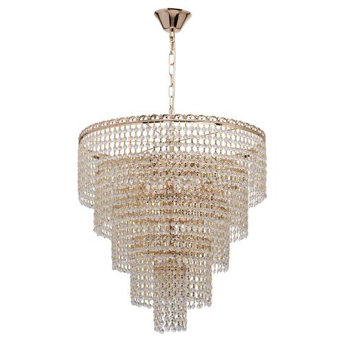 Isabella Crystal 10 Gold pendant lamp - 351018510