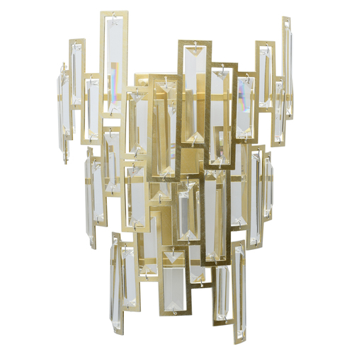 Sconce Monarch Crystal 2 Gold - 121020402