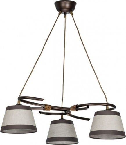 Hanging lamp Niki 3 Overhang Brown E27 3 x 60W