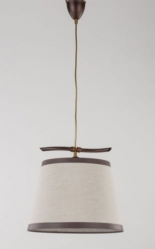 Hanging lamp Niki 1 Overhang Large Brown E27 1 x 60W