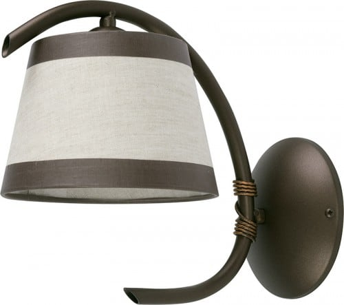 Wall lamp Niki Brown E27 1 x 60W