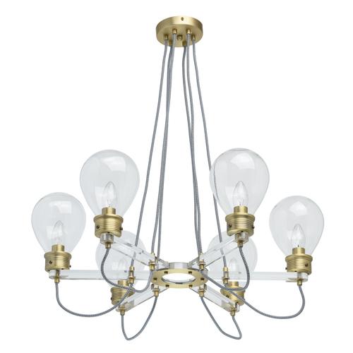 Lampa wisząca Hamburg Loft 6 Mosiądz - 699010606