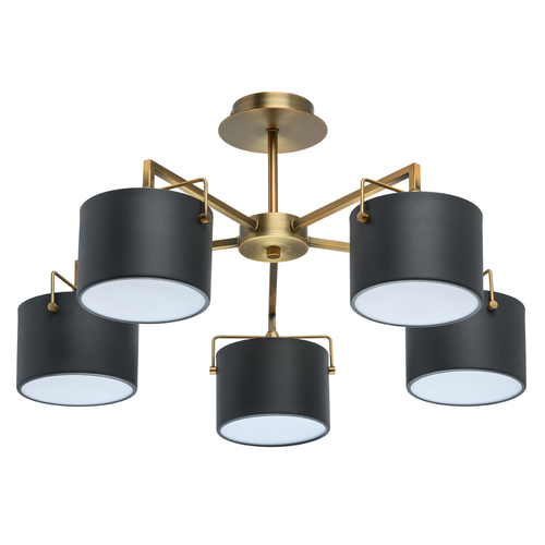 Ceiling lamp black Town Megapolis 5 brass - 721010205