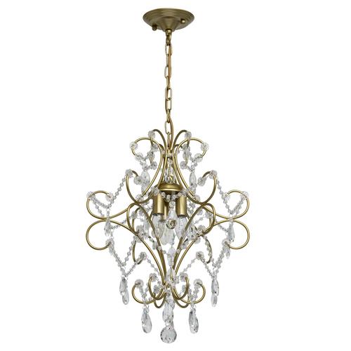 Hanging lamp Adele Crystal 3 Gold - 373014503