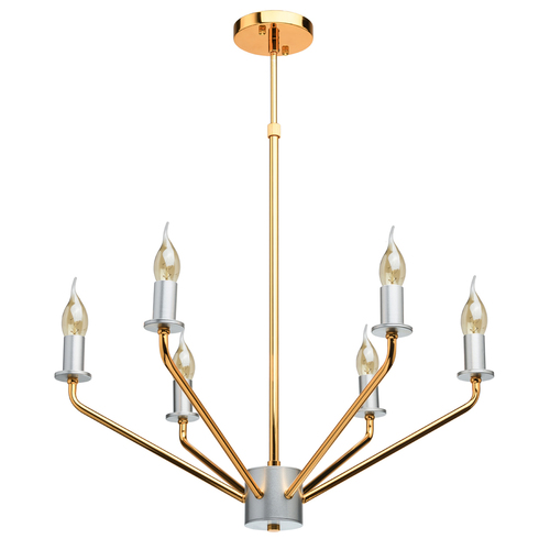 Hanging lamp Hamburg Megapolis 6 Gold - 699010906