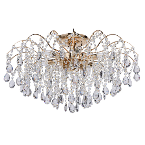 Hanging lamp Venezia Crystal 9 Gold - 464018709
