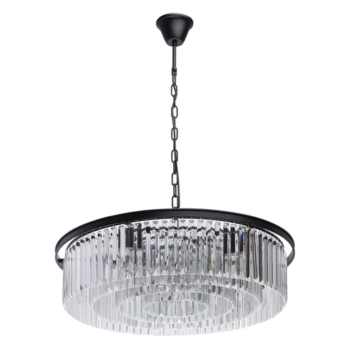 Hanging lamp Goslar Crystal 10 Black - 498014910