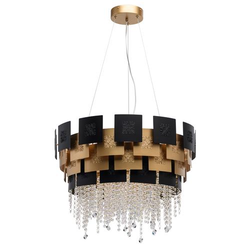 Hanging lamp Carmen Crystal 8 Gold - 394010608