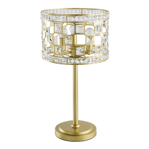 Monarch Crystal 3 Gold Table Lamp - 121031703