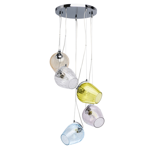 Hanging lamp Bremen Megapolis 5 Chrome - 606010905