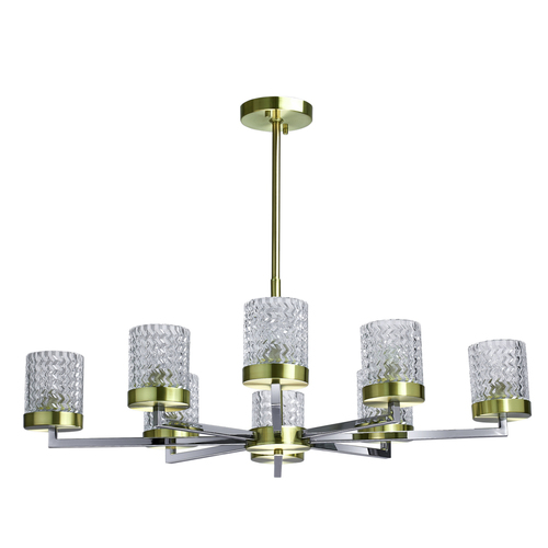 Hanging lamp Hamburg Megapolis 8 Brass - 605011708