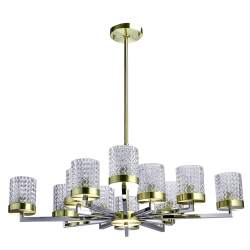 Hanging lamp Hamburg Megapolis 12 Brass - 605011912