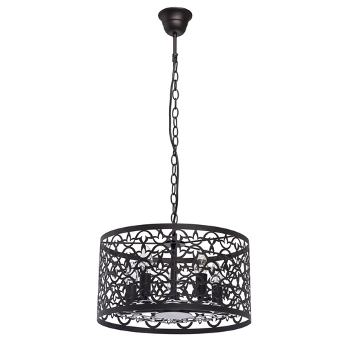 Hanging lamp Castle Country 5 Brown - 249018005