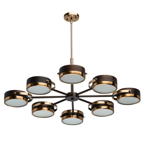 Hanging lamp Hamburg Loft 8 Brass - 605012308