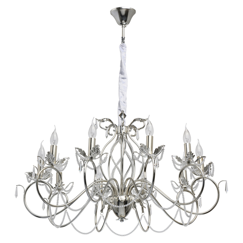 Hanging lamp Valencia Classic 10 Silver - 299012410