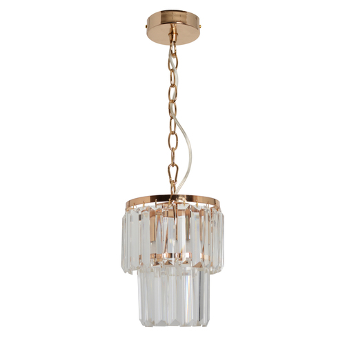 Adelard Crystal 1 Gold pendant lamp - 642014301