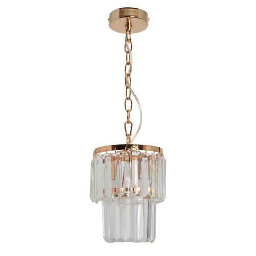 Adelard Crystal 1 Gold pendant lamp - 642014301
