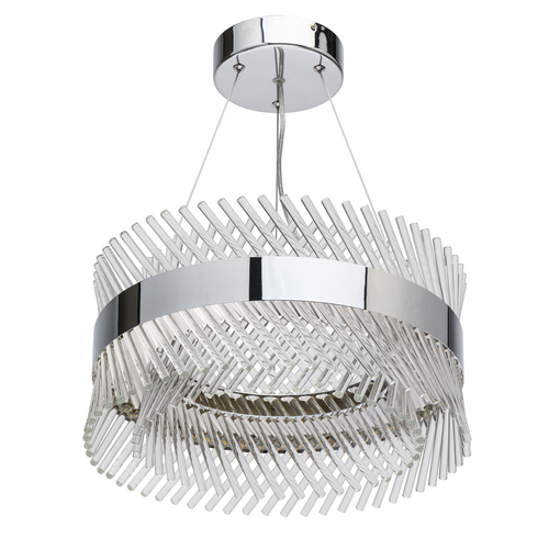 Pendant lamp Adelard Crystal 34 Chrome - 642013601