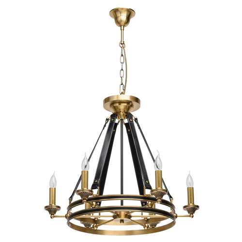 Hanging lamp Bologna Country 6 Brass - 639013106