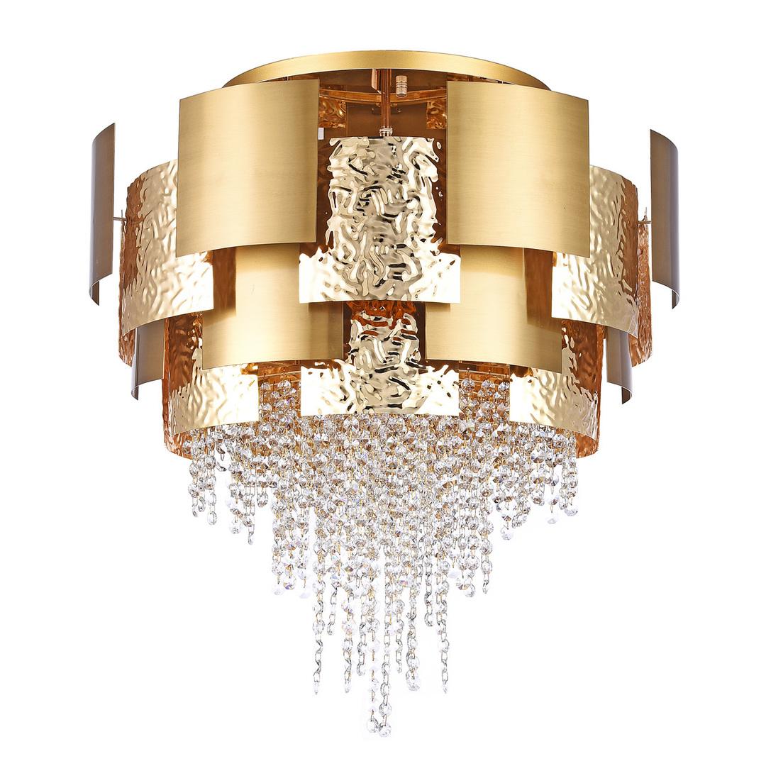 Hanging lamp Carmen Crystal 16 Gold - 394011816