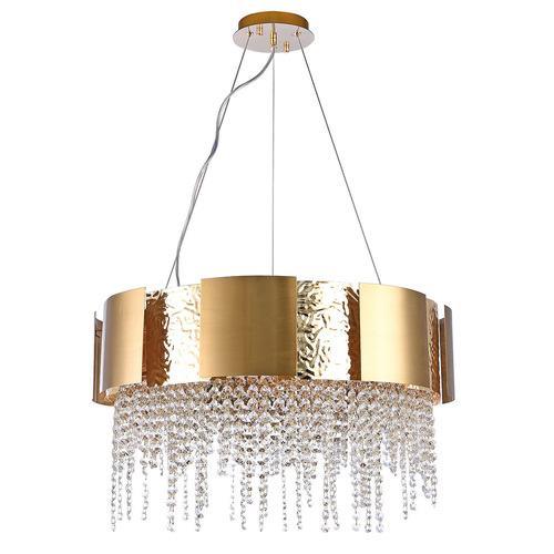 Hanging lamp Carmen Crystal 12 Gold - 394012112