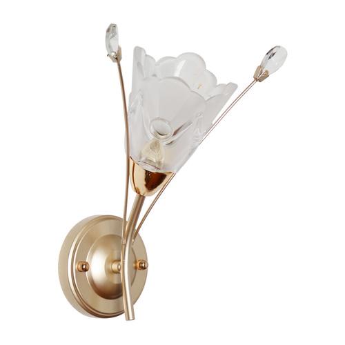 Wall lamp Amelia Flora 1 Gold - 294026301