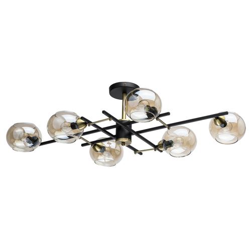 Hanging lamp Megapolis 6 Black - 605013806