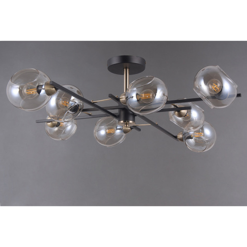 Hanging lamp Megapolis 8 Black - 605013908