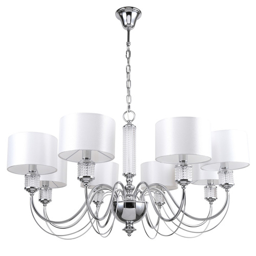 Hanging lamp Elegance 8 Chrome - 692011308