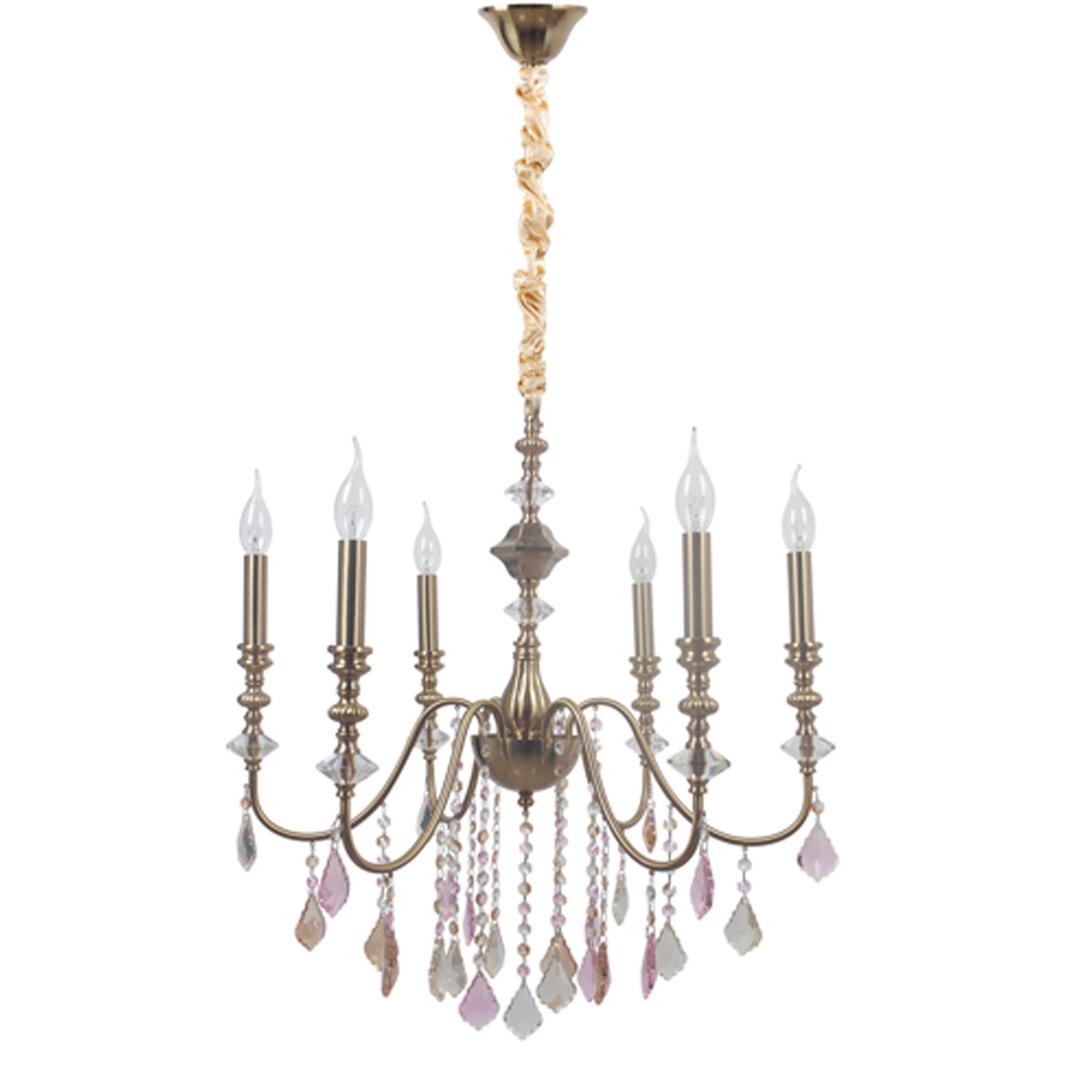 Hanging lamp Consuelo Classic 6 Brass - 614012806