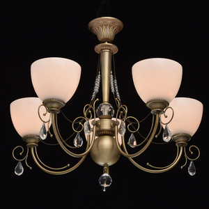 Hanging lamp Felice Classic 5 Brass - 347016405 small 1