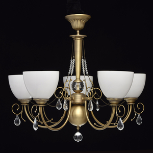 Hanging lamp Felice Classic 5 Brass - 347016405 small 7