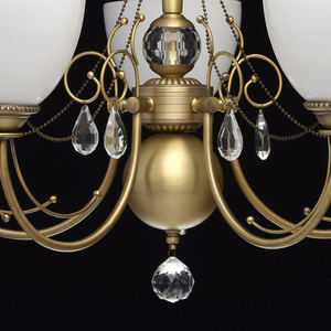 Hanging lamp Felice Classic 5 Brass - 347016405 small 2