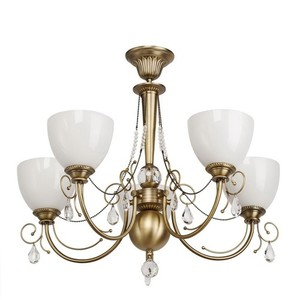 Hanging lamp Felice Classic 5 Brass - 347016405 small 0