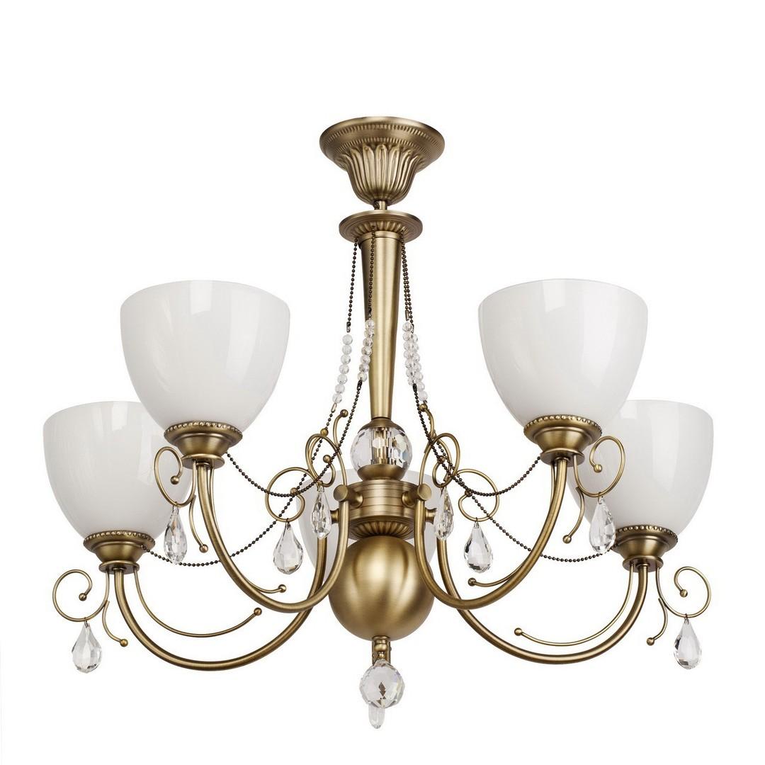 Hanging lamp Felice Classic 5 Brass - 347016405