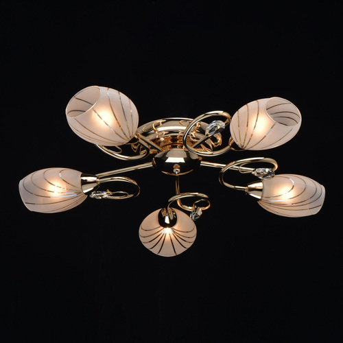 Ceiling lamp for the living room Sabrina Megapolis 5 Gold - 267012005