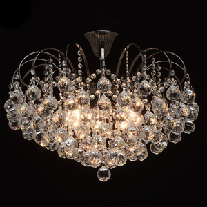 Pearl Crystal 8 hanging lamp Gray - 232016608 small 1